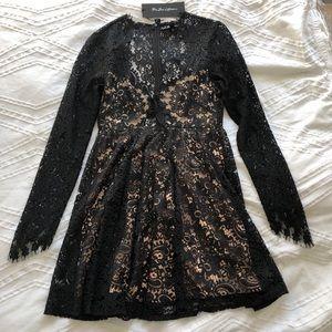 For Love & Lemons Charlie Mini Dress Black XS